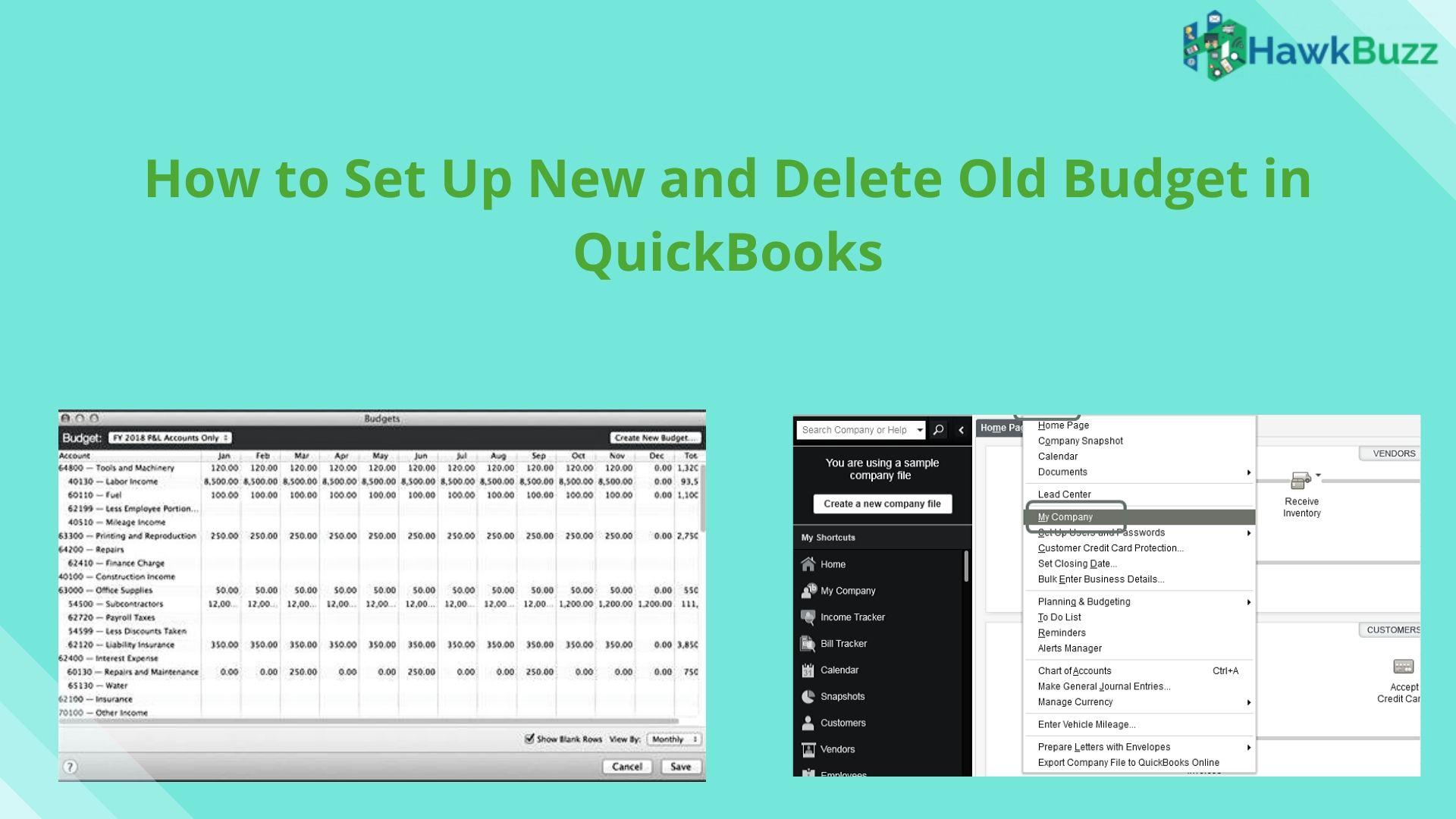 Budget in QuickBooks